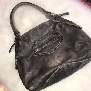 Liebskind Berlin distressed gray leather purse